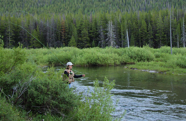 """A Montana mom gets a day off. If this """"public land"""" becomes private or if there is denied stream access - she goes to jail. US Fish and Wildlife."""