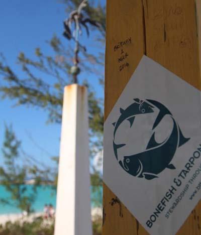 Representing BTT at the Tropic of Cancer beach on Exuma. Dan Decibel photo.