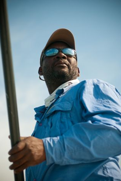 A man with an internal GPS system. Abaco Lodge image.