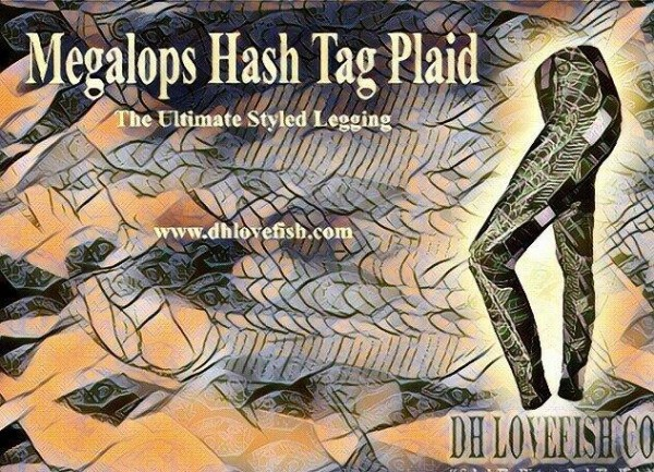 Megalops Hash Tag Plaid