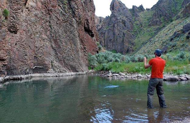 Anglers in the Owyhee Canyonlands get the chance to hook native redband trout. Photo: Tim Neville