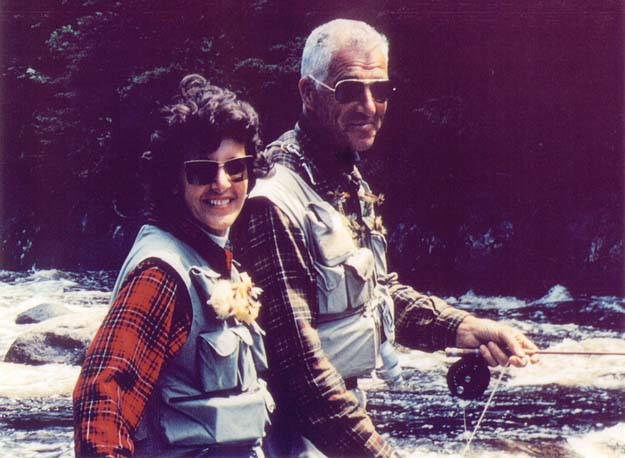 Lee and Joan Wulff, fly fishing's most famous couple. Phot credit Joan Wulff.