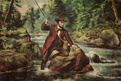 """I spent a day (on the Bushkill River) with friends one season, and we caught in less than two hours, in the liveliest possible manner, all the trout five of us could eat throughout the day, and four dozen extra-large ones which we took home to send to friends in the city."""