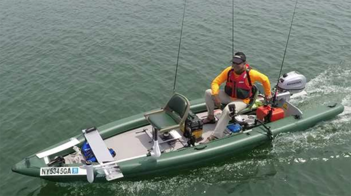 Is the affordable, lightweight and stowable skiff here?