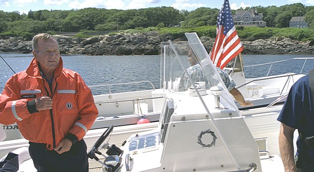 George H.W. Bush inducted into fishing hall of fame