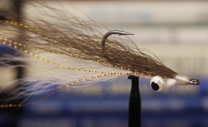 Flies without borders: Clousers bucktail, Krystal flash, lead eyes perched atop